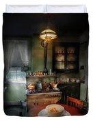 Kitchen - 1908 Kitchen Duvet Cover by Mike Savad