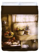 Kitchen - A 1930's Kitchen  Duvet Cover by Mike Savad