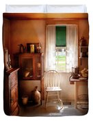 Kitchen - A Cottage Kitchen  Duvet Cover by Mike Savad
