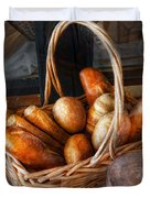 Kitchen - Food - Bread - Fresh bread  Duvet Cover by Mike Savad