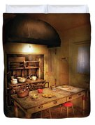 Kitchen - Granny's Stove Duvet Cover by Mike Savad