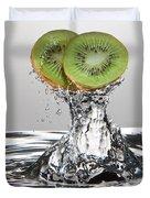Kiwi FreshSplash Duvet Cover by Steve Gadomski