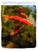 Koi Pond Duvet Cover by Michelle Calkins
