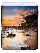 Koki Beach Sunrise Duvet Cover by Inge Johnsson