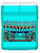 Korean Pagoda Details Duvet Cover by Karon Melillo DeVega