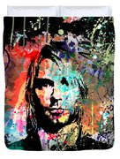 Kurt Cobain Portrait Duvet Cover by Gary Grayson