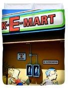 Kwik-e-mart Duvet Cover by Nina Prommer
