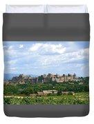 La Cite De Carcassonne Duvet Cover by France  Art