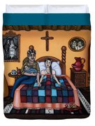 La Partera Or The Midwife Duvet Cover by Victoria De Almeida