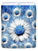 La Ronde Des Marguerites - Blue v05 Duvet Cover by Variance Collections