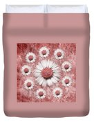 La Ronde Des Marguerites - Pink 02 Duvet Cover by Variance Collections