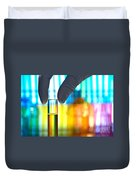 Laboratory Test Tube In Science Research Lab Duvet Cover by Science Research Lab By Olivier Le Queinec