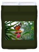 Lacewing Butterfly Duvet Cover by Karen Adams