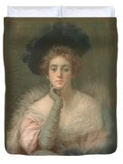Lady In Pink Duvet Cover by Joseph W Gies