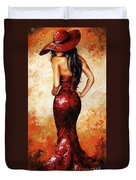 Lady In Red 035 Duvet Cover by Emerico Imre Toth