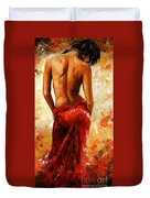 Lady in red 27 Duvet Cover by Emerico Imre Toth