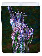 Lady Liberty 20130115 Duvet Cover by Wingsdomain Art and Photography