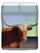 Lady Longhorn Duvet Cover by James W Johnson