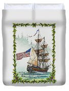 Lady Washington And Holly Duvet Cover by James Williamson