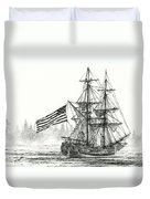 Lady Washington At Friendly Cove Duvet Cover by James Williamson