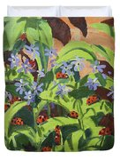 Ladybirds Duvet Cover by Andrew Macara