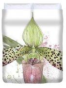 Ladys Slipper - Orchid 16n - Elena Yakubovich Duvet Cover by Elena Yakubovich