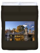Lagoon Bridge In Autumn Duvet Cover by Joann Vitali
