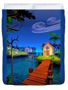 Lagoon Duvet Cover by Cynthia Decker
