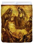 Laid_in_the_Tomb Via Dolorosa 14 Duvet Cover by Lianne Schneider