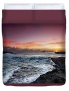 Laie Point Sunrise Duvet Cover by Sean Davey