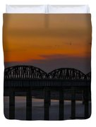 Lake Amistad Sunset Duvet Cover by Amber Kresge