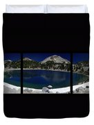 Lake Helen At Mt Lassen Triptych Duvet Cover by Peter Piatt