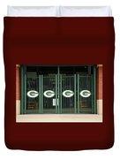 Lambeau Field - Green Bay Packers Duvet Cover by Frank Romeo