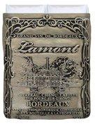 Lamont Grand Vin De Bordeaux  Duvet Cover by Jon Neidert