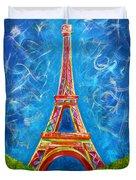 L'amour A Paris Duvet Cover by Teshia Art