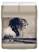 Landscape With Three Trees Duvet Cover by Victor Hugo