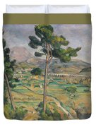 Landscape With Viaduct Duvet Cover by Paul Cezanne