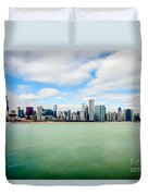 Large Picture Of Downtown Chicago Skyline Duvet Cover by Paul Velgos