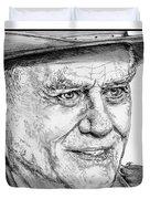 Larry Hagman In 2011 Duvet Cover by J McCombie