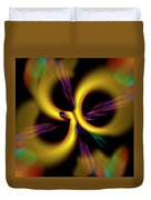Laser Lights Abstract Duvet Cover by Carolyn Marshall