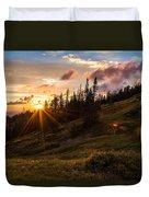 Last Light At Cedar Duvet Cover by Chad Dutson