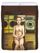 Laundry Day 5 Duvet Cover by Leah Saulnier The Painting Maniac