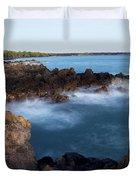 Lava Rock Shore Duvet Cover by Jenna Szerlag