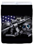 Law Enforcement Tactical Police Duvet Cover by Gary Yost