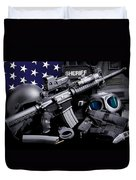 Law Enforcement Tactical Sheriff Duvet Cover by Gary Yost