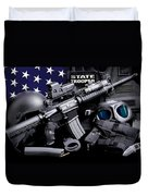 Law Enforcement Tactical Trooper Duvet Cover by Gary Yost
