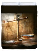 Lawyer - Scale - Balanced Law Duvet Cover by Mike Savad