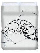 Lazy Day Duvet Cover by Jacki McGovern