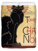 Le Chat Noir Duvet Cover by Nomad Art And  Design