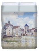 Le Pont De Moret Duvet Cover by Alfred Sisley